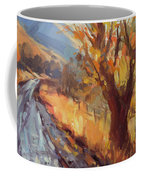Country Coffee Mug featuring the painting After An Autumn Rain by Steve Henderson