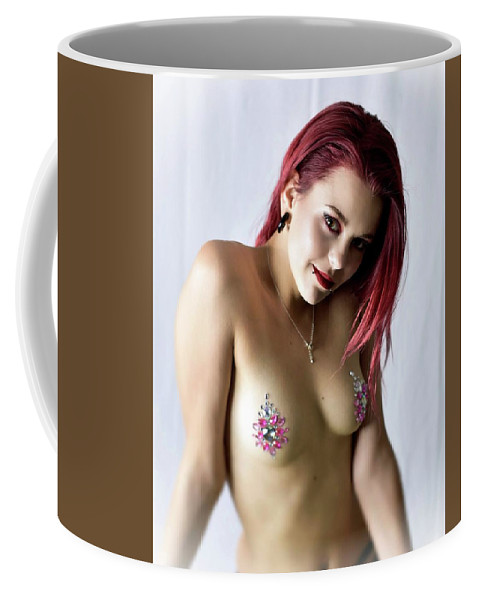 Model Coffee Mug featuring the photograph After Dark Model Mary Ann W Sparkles by Photographer Jack Woolley Jr