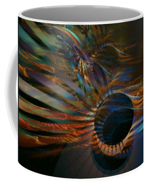 Abstract Coffee Mug featuring the digital art After Hours by NirvanaBlues