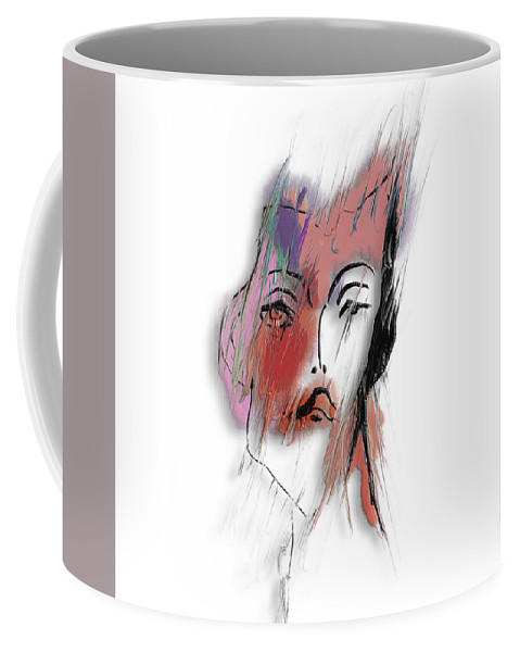 Apple Pencil Drawing Coffee Mug featuring the painting After Party by Bill Owen