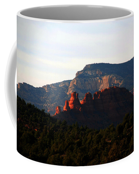 Photography Coffee Mug featuring the photograph After Sunset In Sedona by Susanne Van Hulst