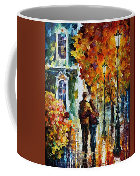 Afremov Coffee Mug featuring the painting After The Date by Leonid Afremov