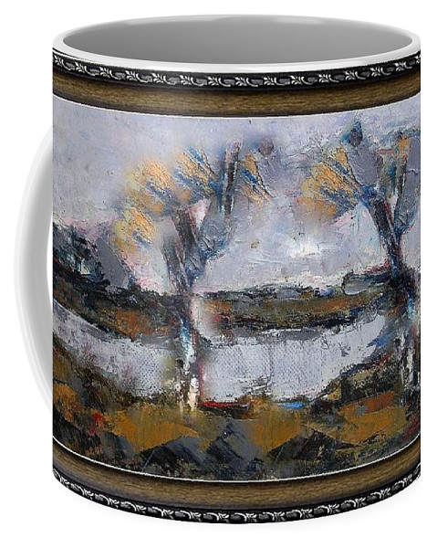 Modern Painting Coffee Mug featuring the painting After The Rain 4 by Pemaro