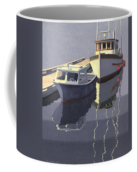Boat Coffee Mug featuring the painting After The Rain by Gary Giacomelli