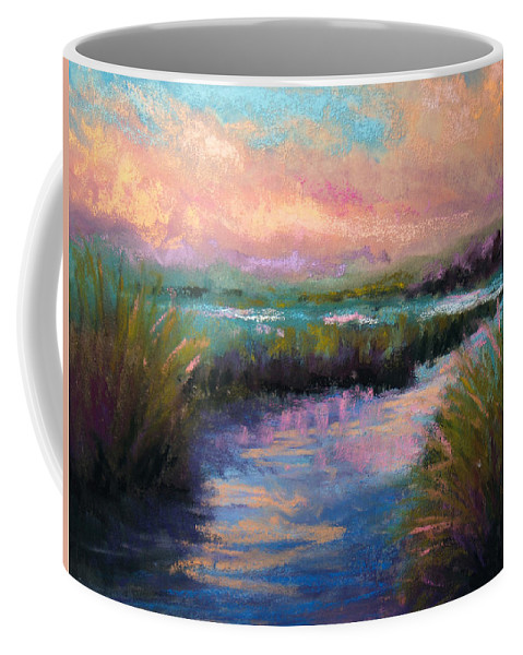 Landscape Coffee Mug featuring the pastel After The Rain by Susan Jenkins