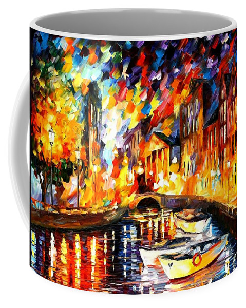 Afremov Coffee Mug featuring the painting After The River Turns by Leonid Afremov