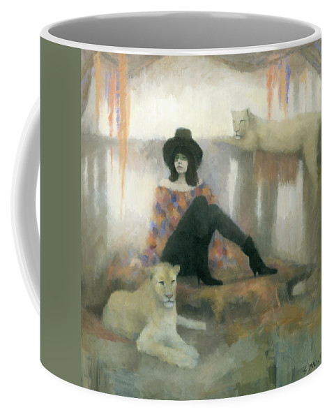 Figurative Coffee Mug featuring the painting After The Show by Steve Mitchell