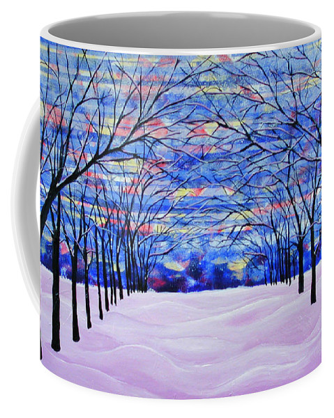 Landscape Coffee Mug featuring the painting After The Snow by Rollin Kocsis