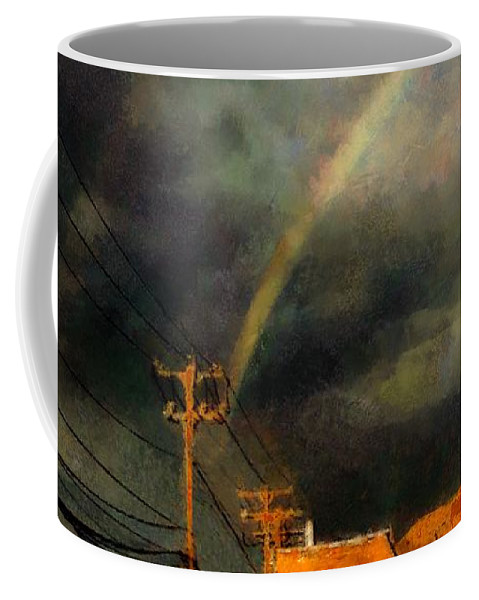 Rainbow Coffee Mug featuring the painting After The Storm by RC DeWinter