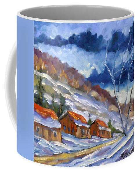 Art Coffee Mug featuring the painting After The Storm by Richard T Pranke