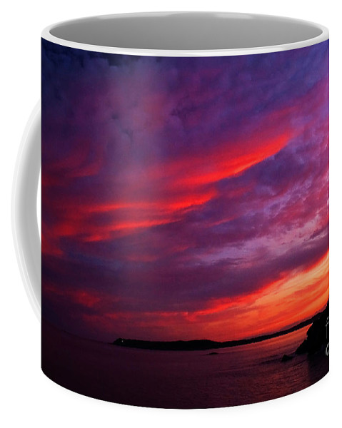 Sunset Coffee Mug featuring the photograph After The Storm Sunset by Alana Ranney