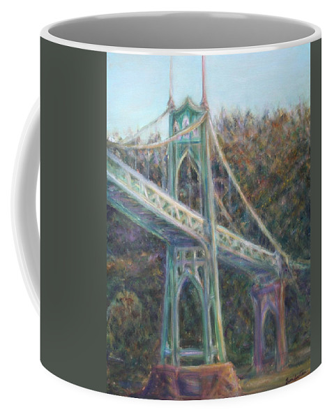 Quin Sweetman Coffee Mug featuring the painting Afternoon Glow On The St Johns by Quin Sweetman