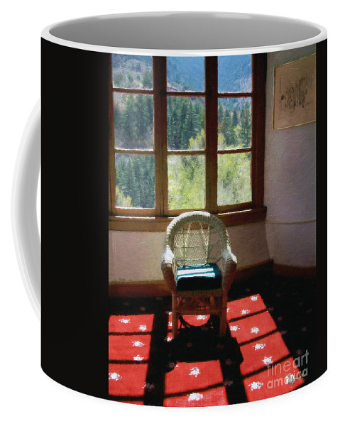 Antiques Coffee Mug featuring the painting Afternoon In The Solarium by RC DeWinter