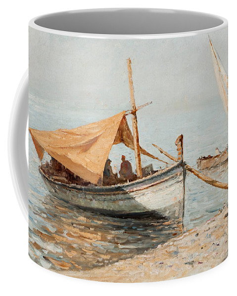 Giovanni Battista Castagneto Coffee Mug featuring the painting Afternoon In Toulon by Giovanni Battista Castagneto