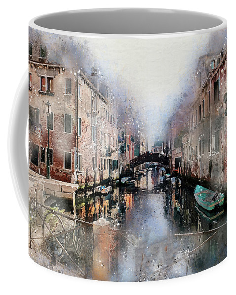 Venice Coffee Mug featuring the digital art Afternoon In Venice IIi by Ronald Bolokofsky