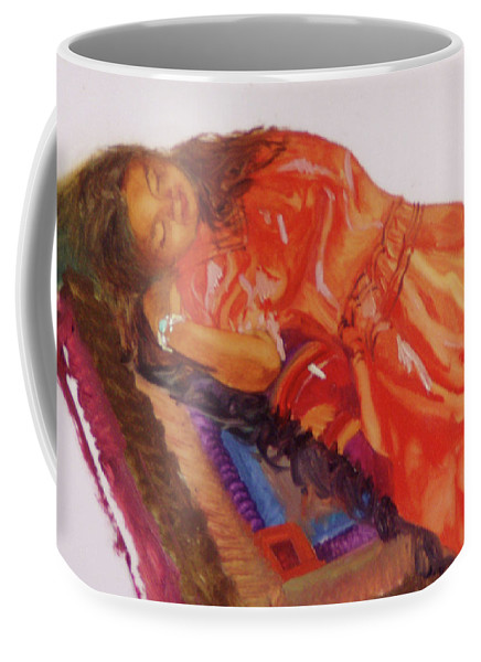 Miniatures Coffee Mug featuring the painting Afternoon Nap by Betty Jean Billups