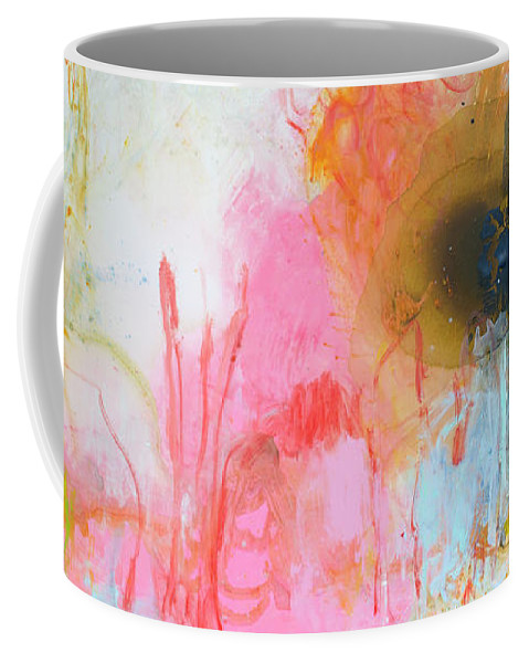 Abstract Coffee Mug featuring the painting Afternoon Snooze by Claire Desjardins