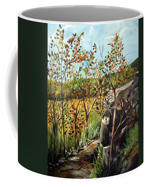 Coffee Mug featuring the painting Afternoon Stroll by Ruth Palmer