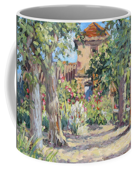 France Coffee Mug featuring the painting Afternoon Tea by L Diane Johnson