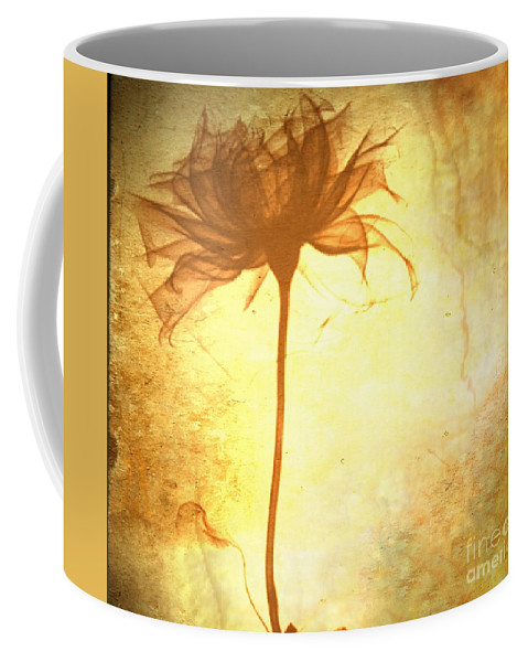 Flower Coffee Mug featuring the painting Against All Odds by Jacky Gerritsen