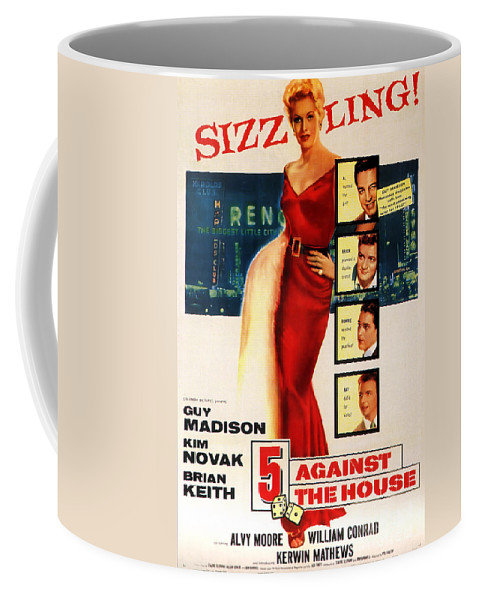 Against The House Coffee Mug featuring the painting Against The House Film Noir by R Muirhead Art