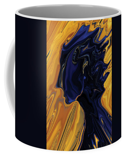Abstract Coffee Mug featuring the digital art Against The Wind by Rabi Khan