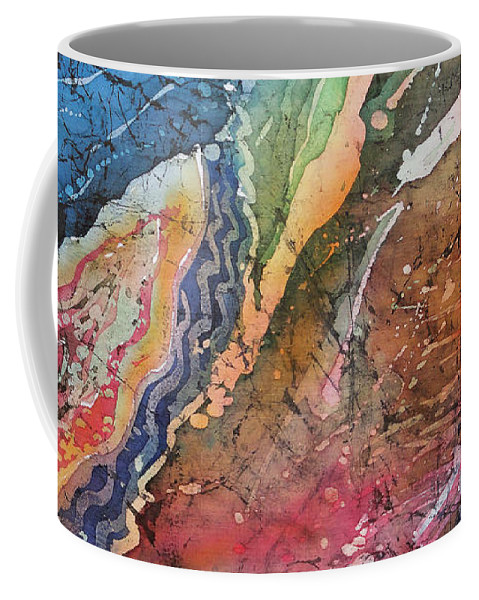 Agates Coffee Mug featuring the painting Agate Inspiration - 21a by Sue Duda