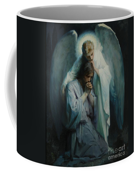 Frans Schwartz Coffee Mug featuring the painting Agony In The Garden by Celestial Images