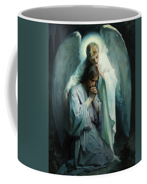 Agony In The Garden Coffee Mug featuring the painting Agony In The Garden by Schwartz Frans