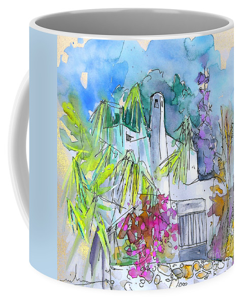 Agua Amarga Painting Coffee Mug featuring the painting Agua Amarga 02 by Miki De Goodaboom