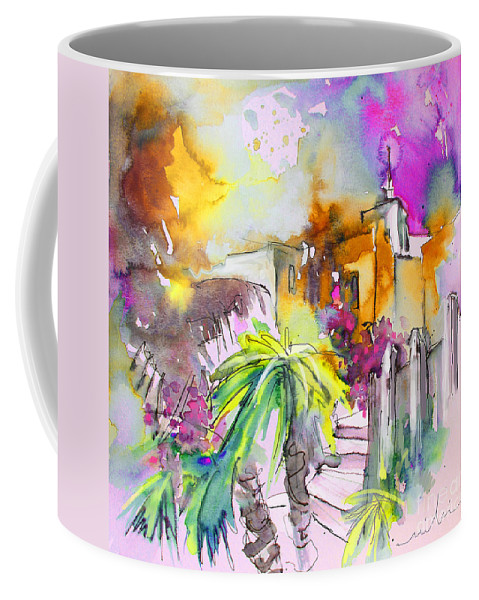 Agua Amarga Coffee Mug featuring the painting Agua Amarga Fantasy 01 by Miki De Goodaboom