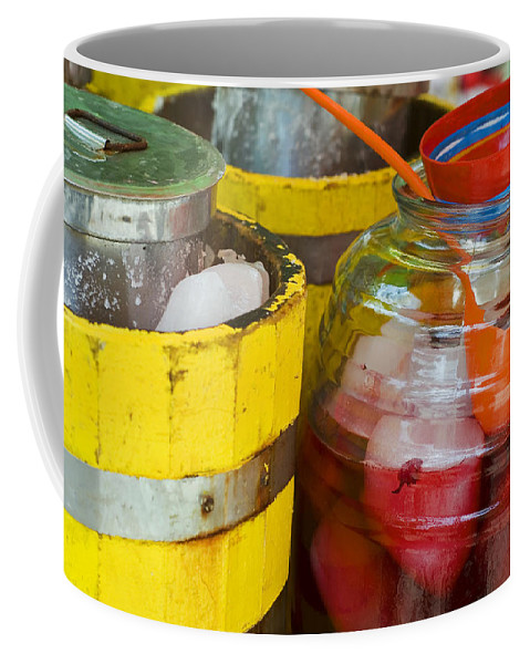 Beverage Coffee Mug featuring the photograph Agua De Hamaica by Skip Hunt