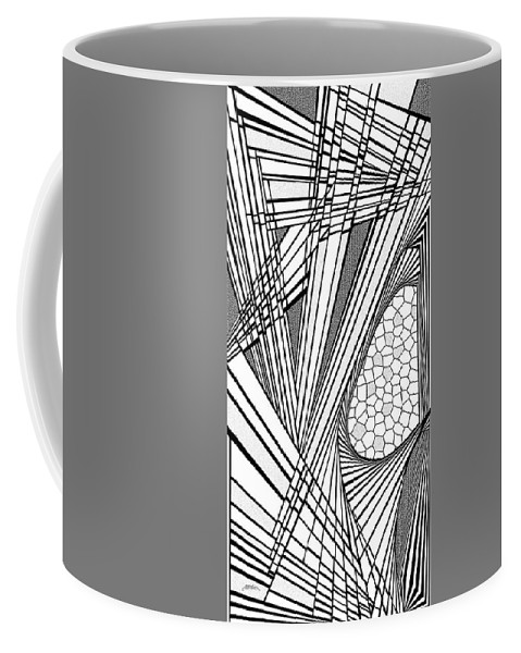 Dynamic Black And White Coffee Mug featuring the painting Ah Well by Douglas Christian Larsen