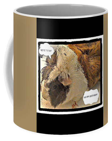 Animal Coffee Mug featuring the photograph Ahh Guinea Pig Greetings by Barbara Searcy