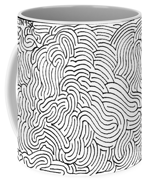 Mazes Coffee Mug featuring the drawing Aimless by Steven Natanson