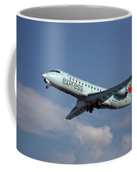 Air Canada Express Coffee Mug featuring the photograph Air Canada Express Bombardier Crj-200er by Smart Aviation