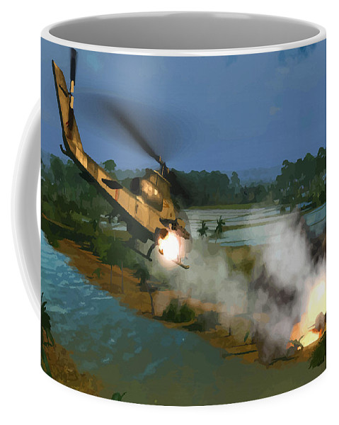 Decorative Coffee Mug featuring the digital art Air Conflicts Vietnam Front by Don Kuing