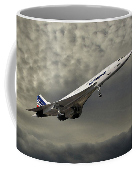 Air France Coffee Mug featuring the photograph Air France Concorde 116 by Smart Aviation