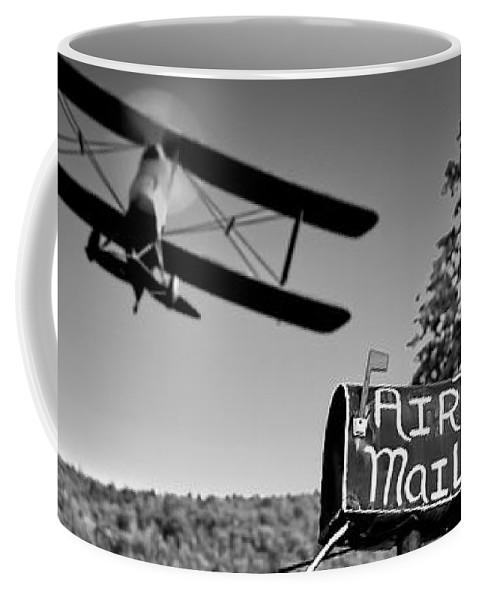 Landscape Coffee Mug featuring the photograph Air Mail Delivery Maine Style by Bob Orsillo