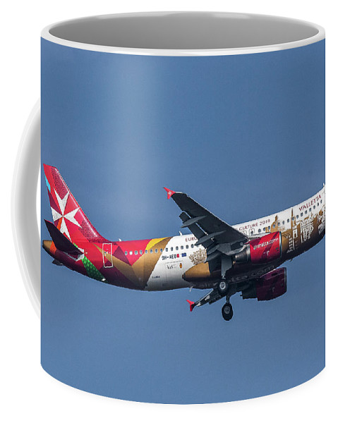 Airliner Coffee Mug featuring the photograph Air Malta Airbus A320-214 by John Richardson