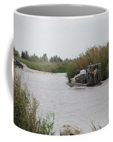 Everglades Coffee Mug featuring the photograph Airboat Rides 25 Cents by Rob Hans
