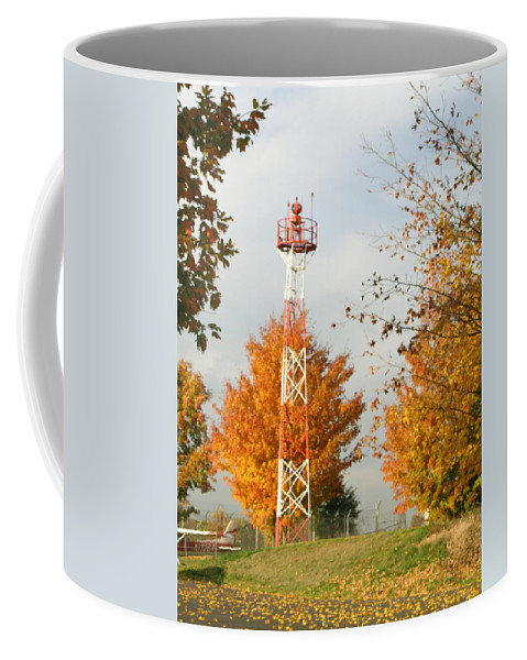 Airport Coffee Mug featuring the photograph Airport Tower by Douglas Barnett