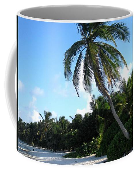 Beach Coffee Mug featuring the photograph Akumal Sur Beach 01 by Christopher Spicer