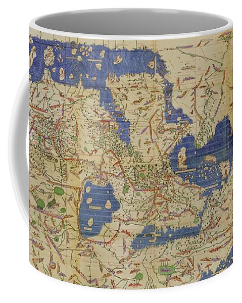 1100s Coffee Mug featuring the photograph Al Idrisi World Map 1154 by SPL and Photo Researchers
