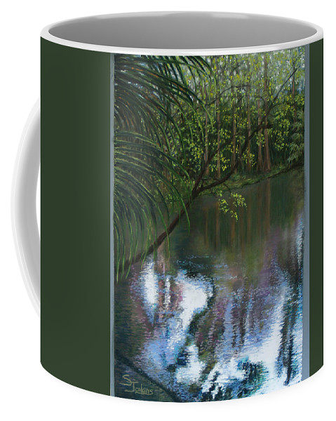 Landscape Coffee Mug featuring the painting Alafia River Reflection by Susan Jenkins