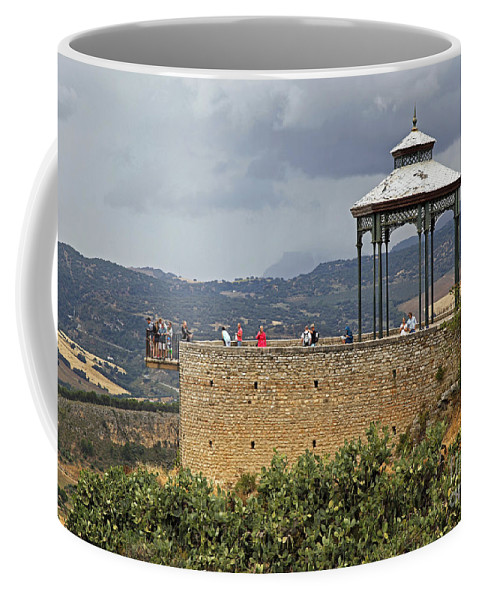 Alameda De Jose Antonio Coffee Mug featuring the photograph Alameda De Jose Antonio In Ronda Spain by Kenneth Lempert