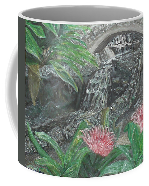 Landscape Coffee Mug featuring the painting Alameda Gardens, Gibraltar by Robbie Potter