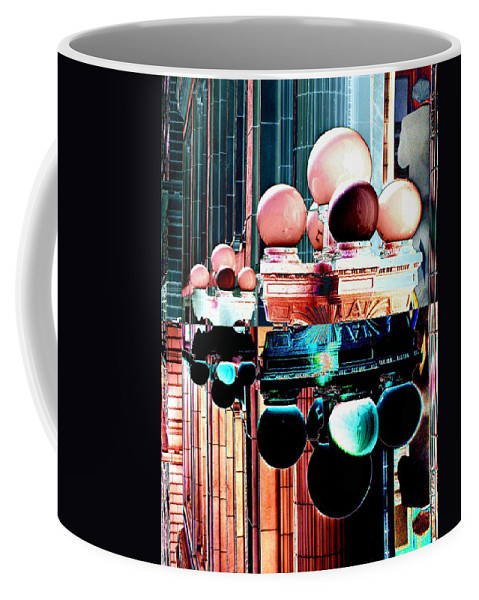 Seattle Coffee Mug featuring the photograph Alaska Building Lights by Tim Allen