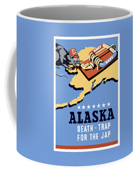 Alaska Coffee Mug featuring the painting Alaska Death Trap by War Is Hell Store