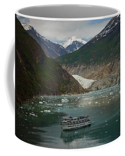 Alaska Coffee Mug featuring the photograph Alaska Endicott Glacier by Heather Coen